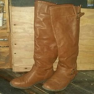 Tall Brown Riding Boots from Justfab